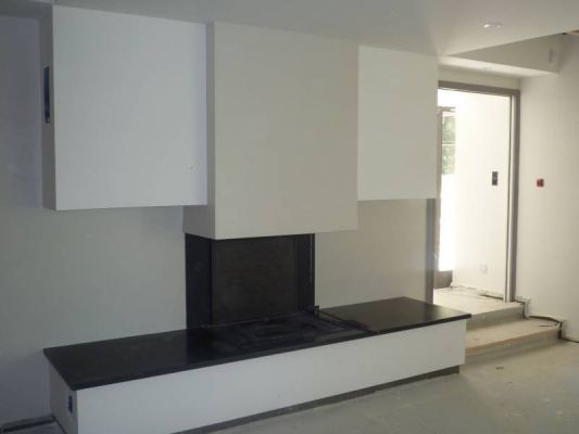chauffage chemin e cheminee design moderne. Black Bedroom Furniture Sets. Home Design Ideas