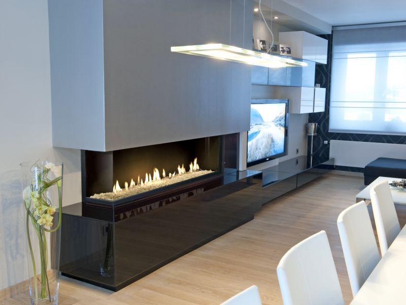 chemin e centrale suspendue moderne labellis e flamme verte chemin e installateurs et. Black Bedroom Furniture Sets. Home Design Ideas