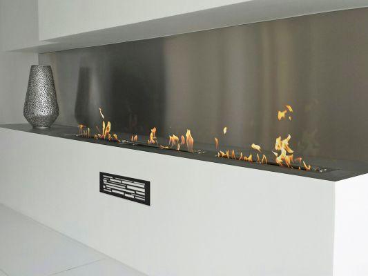 Chauffage chemin e cheminee design moderne for Cheminee murale ethanol pas cher